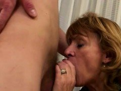GILF trying a sweet hard cock